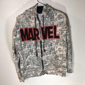 Marvel Gray Comic Strip Sweatshirt Large A24